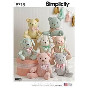 Bilde av Simplicity 8716 Kosedyr