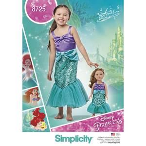 Bilde av Simplicity 8725 Kostyme havfrue til barn og dukke
