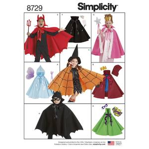 Bilde av Simplicity 8729 Kostyme kappe til barn