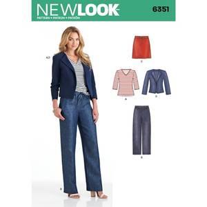 Bilde av New Look 6351 Skjørt, bukse, jakke og topp