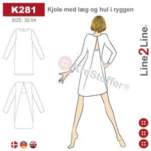Bilde av Line2Line K281 Kjole med legg og åpning i ryggen