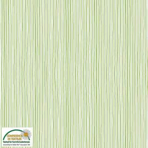 Bilde av Bomull - Ujevne grønne striper