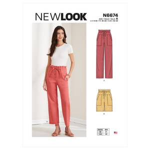 Bilde av New Look N6674 Bukse og shorts paperbag