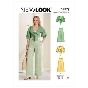 Bilde av New Look N6677 Jakke med puffermer og bukse
