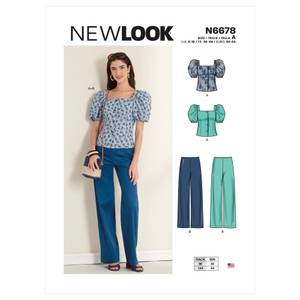 Bilde av New Look N6678 Topp med puffermer og bukse