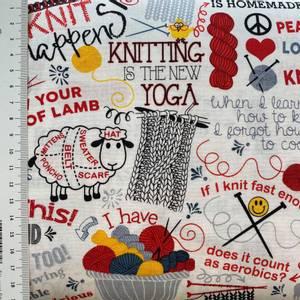 Bilde av Bomull knit - strikking med tekst og illustrasjoner