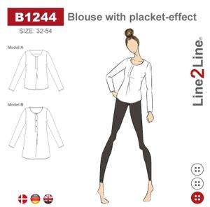 Bilde av Line2Line B1244 Bluse med stolpeeffekt