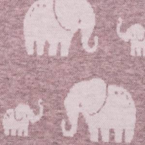 Bilde av Jacquard elefanter gammelrosa melert