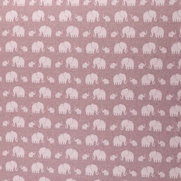 Jacquard elefanter gammelrosa melert