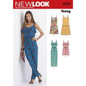 Bilde av New Look 6373 Jumpsuit, romper og kjole
