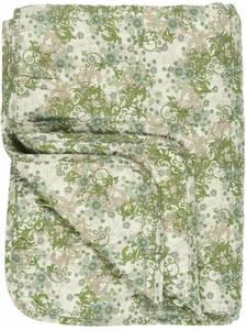 Bilde av Quilt grønne, beige og brune blomster