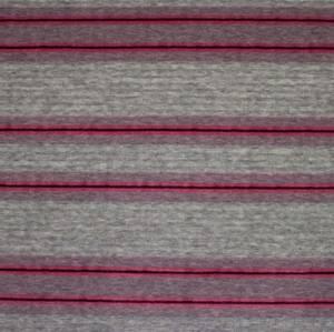 Bilde av Stretch velour striper mørk rosa og grå