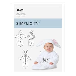 Bilde av Simplicity S9053 Heldrakt og lue til baby