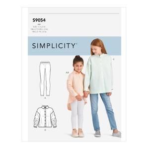 Bilde av Simplicity S9054 Oversize skjorte og tights til barn