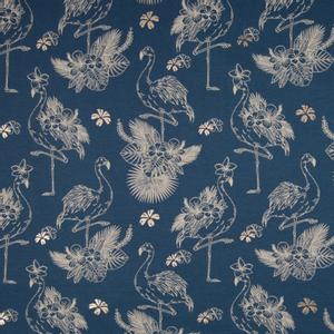 Bilde av Jersey - Flamingo med metallic kobber på blå bakgrunn