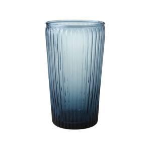 Bilde av Laura Ashley glass håndlaget rillet høy blå