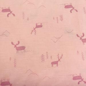 Bilde av Strikket Ull, tynn - rosa med fjell og elg