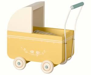 Bilde av Maileg - Micro dukkevogn, gul