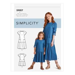 Bilde av Simplicity S9057 Kjole til dame og barn