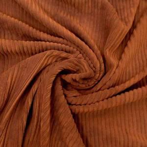 Bilde av Kordfløyel jersey bredstripet - rust oransje