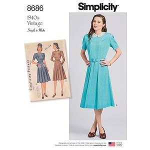 Bilde av Simplicity 8686 Vintage kjole