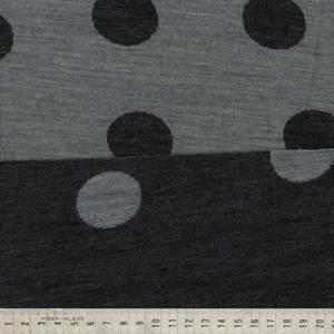 Bilde av Strikket merinoull - polkadots i gråtoner