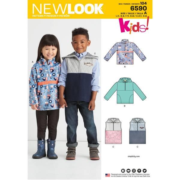 New Look 6590 Hettegenser og vest