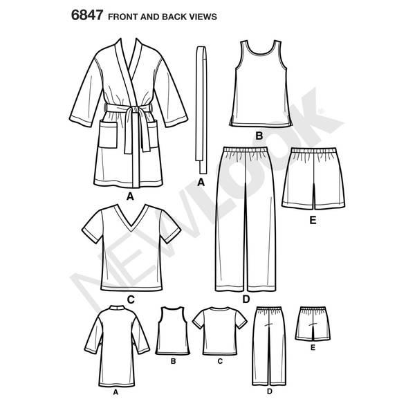 New Look 6847 Pysjamas og slåbrok