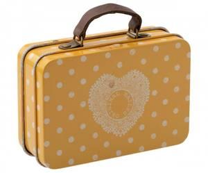 Bilde av Maileg - Koffert okergul med prikker