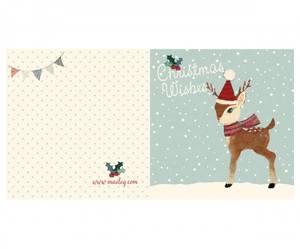 Bilde av Maileg - Julekort dobbelt, bambi