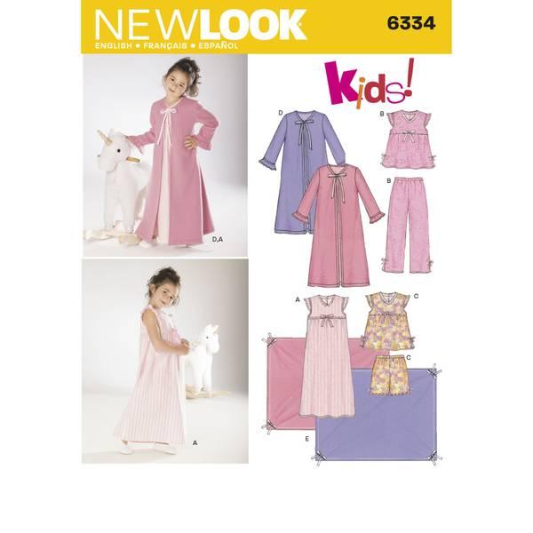 New Look 6334 Pysjamas, nattkjole og pledd