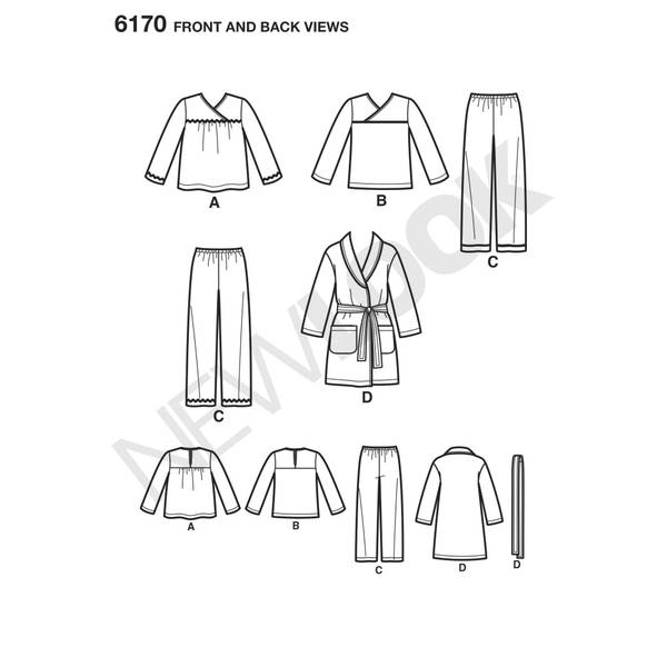 New Look 6170 Pysjamas og slåbrok