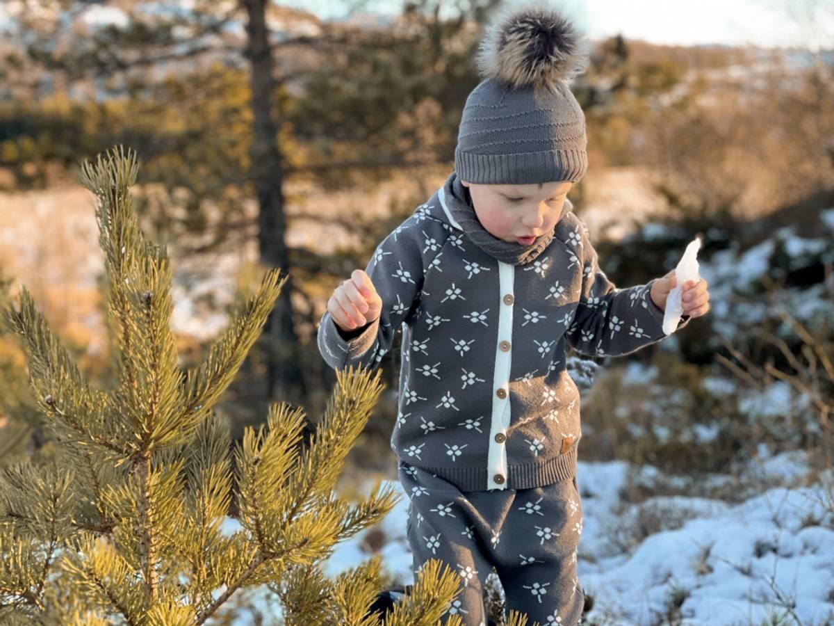 Brun ullsett med jakke Icelandic og bukse Mule