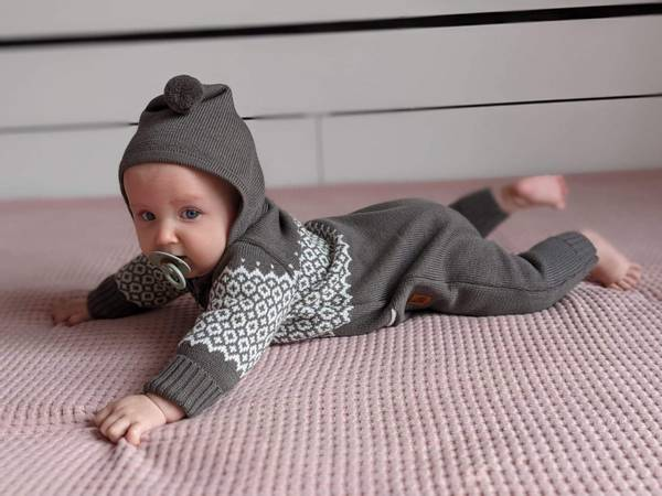 Bilde av Heldress Moles i merinoull, brun