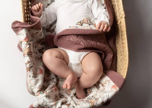 Bilde av Pledd Bond i merinoull med bomullsfôr, gammelrosa, boho
