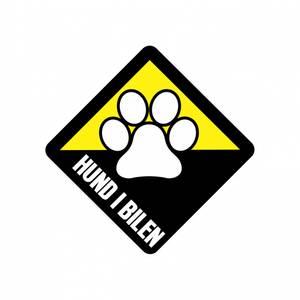 Bilde av Hund i bilen Klistremerke