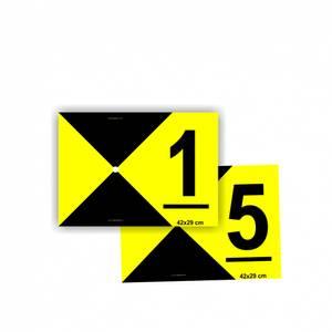 Bilde av Signaliseringsplate GCP sett 1-5