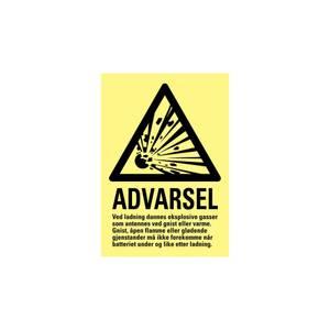 Bilde av Advarsel batteri lading
