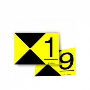 Bilde av Signaliseringsplate GCP sett 1-9