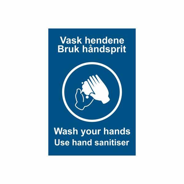 Vask hendene/bruk håndsprit klistremerker (sett á 10 stk)