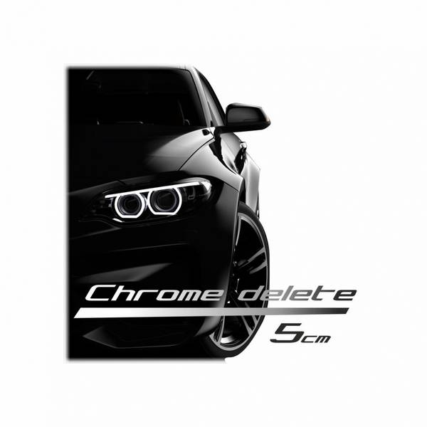 Chrome delete 150 x 5 cm