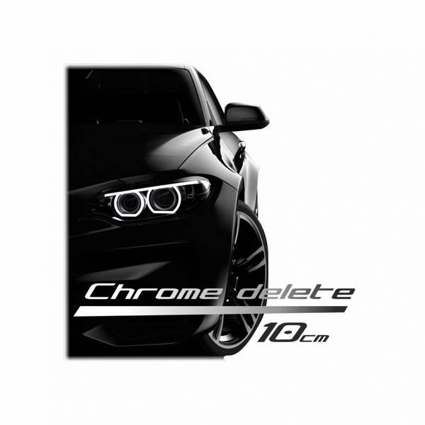 Chrome delete 150 x 10 cm