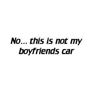 Bilde av Not my boyfriends car
