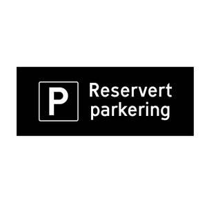 Bilde av Reservert parkering skilt enkel