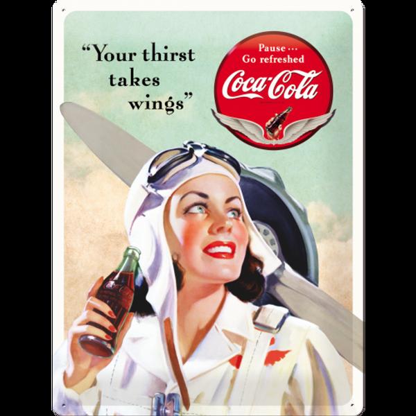Bilde av Coca-Cola Takes Wings Lady