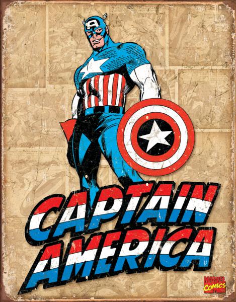 Bilde av Captain America Retro Panel