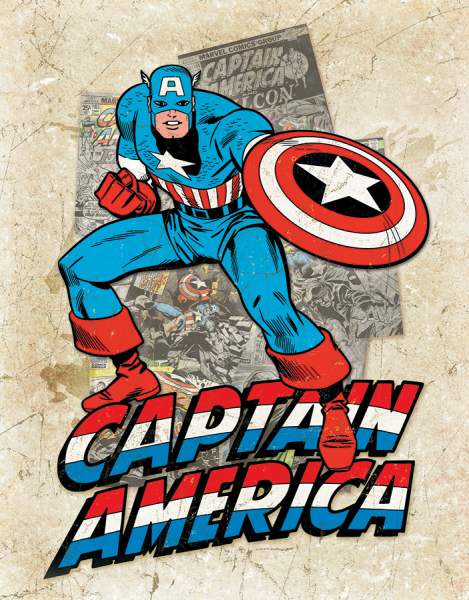 Bilde av Captain America Cover Splash
