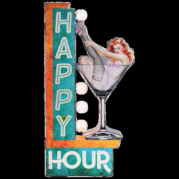 Bilde av Happy Hour LED OTW Skilt