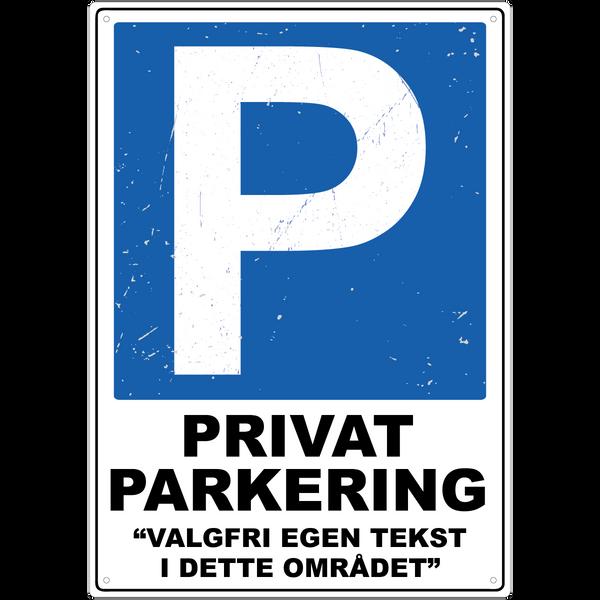 Bilde av Privat Parkering Rustikk med Egen Tekst A3