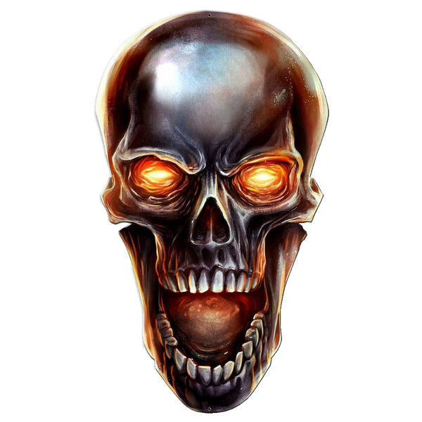 Bilde av Glowing Metal Skull